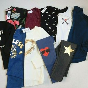 NWT Girls Old Navy Place 10pc Bundle Tops Leggings